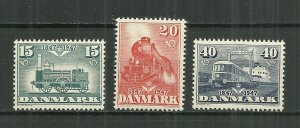1947 Denmark 301-3 complete Train set of 3 MH