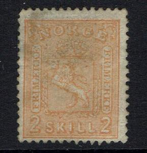 Norway SC# 12, Used, Hinge Remnant -  Lot 05222016