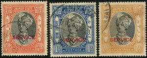 India - Jaipur SC# O23-5  Raja Man Singh 3/4a 1a & 2a Used