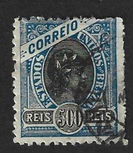 BRAZIL Scott #120 Used 500r Liberty Head stamp 2022 CV $2.00