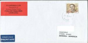 LITHUANIA LETTER TO ARTSAKH KARABAKH ARMENIA 2011 R2021208