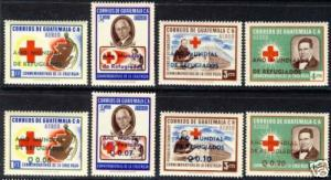 GUATEMALA C235-C242, RED CROSS MNH s4255