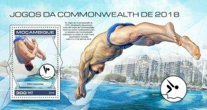 Mozambique - 2018 Commonwealth Games - Stamp Souvenir Sheet MOZ18429b