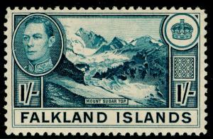 FALKLAND ISLANDS SG158b, 1s light dull blue, LH MINT. Cat £38.