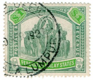 (I.B) Federated Malay States Revenue : Duty Stamp $1