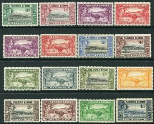 SIERRA LEONE-1938-44 Set to £1 Various Incl. top value with toned gum Sg 188-200