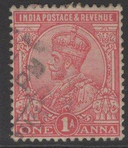 INDIA SG159 1911 1a ROSE-CARMINE USED