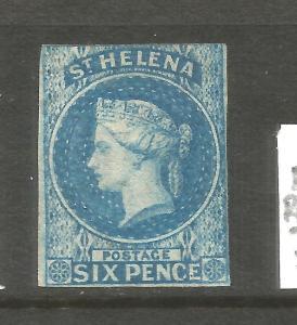 ST HELENA  1856  6d  QV  MVLH   SG 1