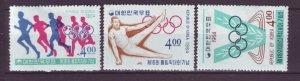 J22030 Jlstamps 1964 korea mh part of set #449-550,453 sports