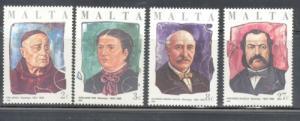Malta Sc 682-5 1986 Philanthropists stamp set mint NH
