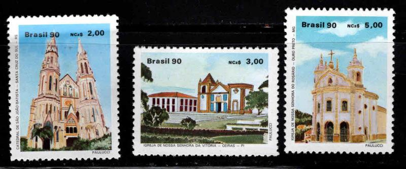 Brazil Scott 2231-2233 MNH** church set