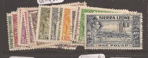 Sierra Leone KGVI SG 188-200 VFU (1azn)