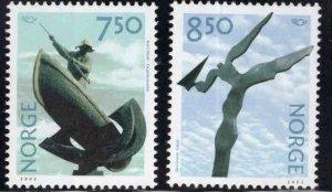 Norway Scott 1327-1328, 2002 Sculpture set