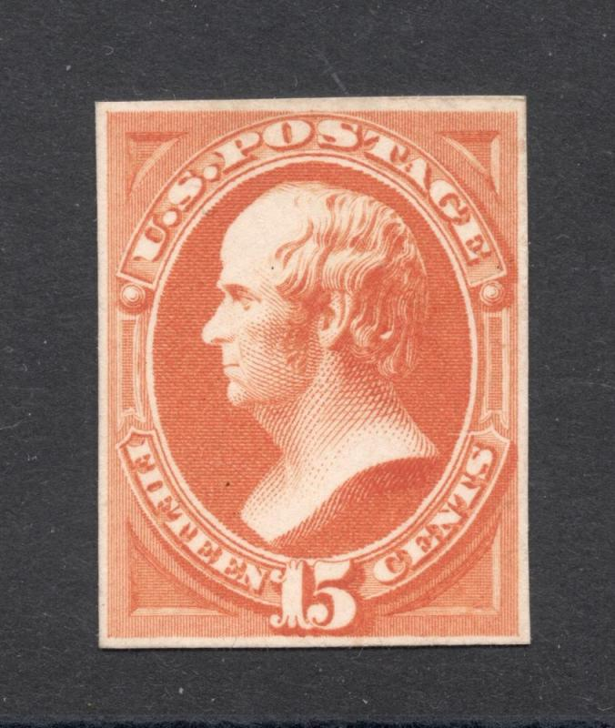 163P4 Yellow Orange - Engraved Plate Proof on Card