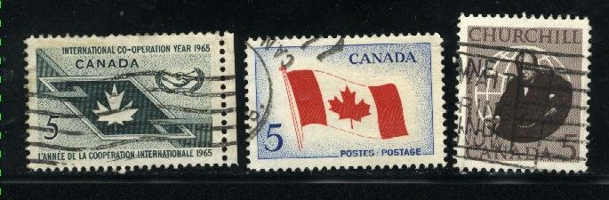 Can #437,439-40   u   VF 1965 PD