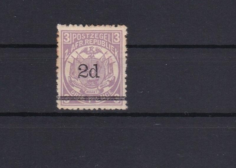 2d overprint on 1887 transvaal  stamp ref r10478