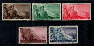 San Marino #272-276  MNH  Scott $125.00