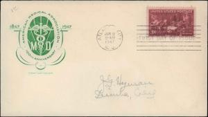 United States, New Jersey, First Day Cover, Medical