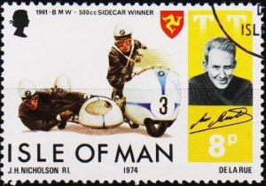 Isle of Man. 1974 8p S.G.48 Fine Used