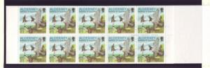 Alderney Sc 142a 2000 21p Falcon stamp booklet pane mint NH