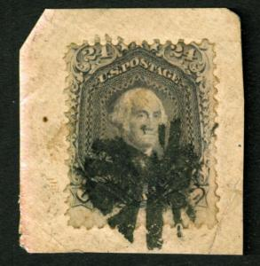 1862  Sc 78b used 24c fancy cancel  CV $425  with Certificate