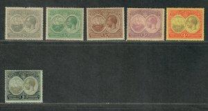 Bermuda Sc#55-60 M/H/VF, 58 NG, Cv. $86.50
