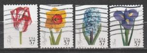 USA_- Used,VF- SC # 3900-3903  Spring Flowers .