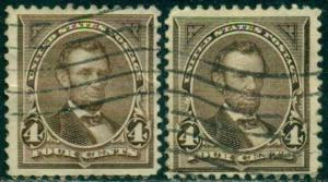 SCOTT # 269, USED, FINE, 2 STAMPS, GREAT PRICE!