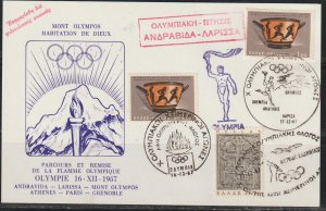 Greece Olympic Torch Route  Cover