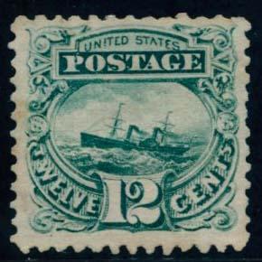 US Scott #117 Mint, FVF, No Gum