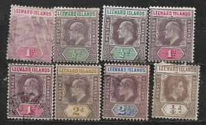 COLLECTION LOT OF 8 LEEWARD ISLANDS 1890+ CLEARANCE CV + $25 UNCKECKED