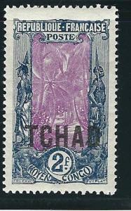 Ubangi Chari Chad 17 Y&T 17 MNH F/VF 1922 SCV $35.00