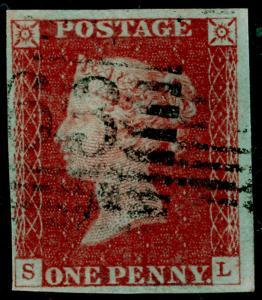 SG8, 1d red-brown, FINE USED. 4 MARGINS. SL