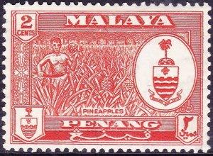 MALAYA PENANG 1960 2c Orange-Red SG56 MNH