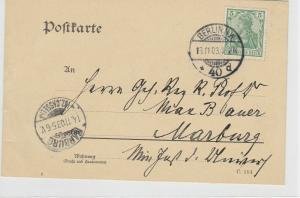 German Postal History Stamps Postcard Ref: R4859