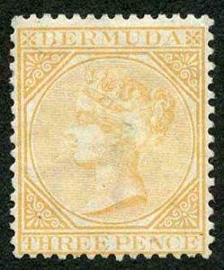 Bermuda SG5a 3d yellow buff wmk crown CC Perf 14 Mint (part gum)