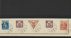 FIUME 1919, FRANCO SURCH, POSTAGE DUES & NEWSPAPER  STAMPS  & CANCELS. REF 4414
