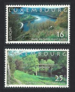Luxembourg Europa Parks and Gardens 2v SG#1499-1500