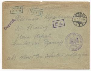 Germany Prisoners of War WWI Cover July 24, 1915 Gutersloh