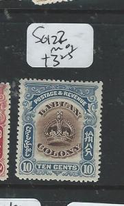 LABUAN (PP1205B) CROWN 10C  SG 122    MOG