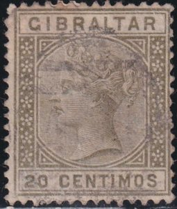 Gibraltar 1899-1898 SC 31 Used