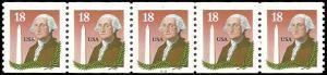 PCBstamps  US #2149 CPS 90c(5x18c)Washington, (333), 1985, MNH, (1)