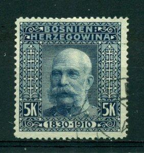 Bosnia & Herzegovina 1910 #61 U SCV(2020)=$9.00