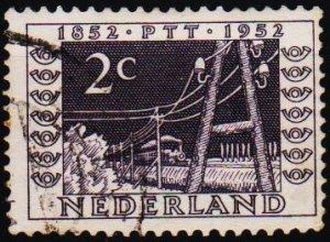 Netherlands. 1952 2c. S.G.754 Fine Used