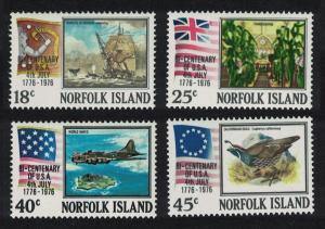 Norfolk Birds Bicentenary of American Revolution 4v SG#172-175 SC#194-197