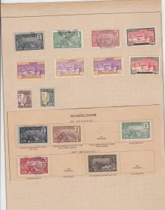 guadeloupe stamps sheet ref 11119