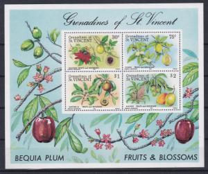 St. Vincent - Grenadines # 491a, Fruits & blossoms, NH, 1/2 Cat.