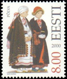 Estonia #400-401, Complete Set(2), 2000, Costumes, Never Hinged