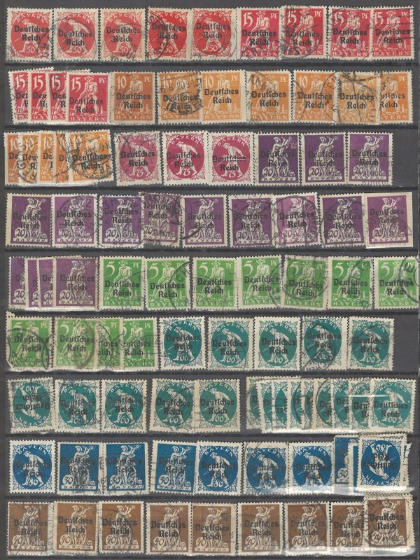 COLLECTION LOT # 2492 BAVARIA #256-64 120 STAMPS MNH 1920 CLEARANCE CV+$170