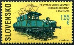 2020 Slovakia Locomotive Urban Public Transport (Scott NA) MNH